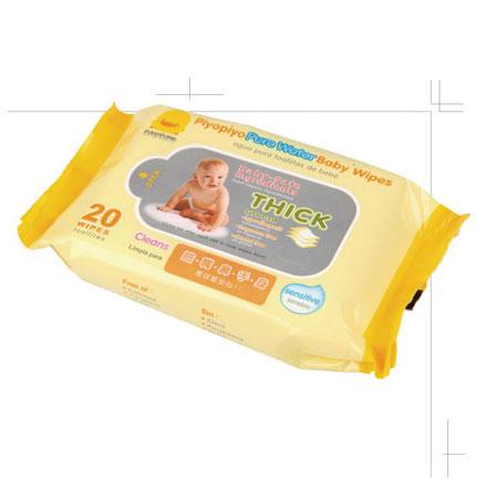 【悅兒樂婦幼用品?】Piyo 黃色小鴨 嬰兒柔濕紙巾(20抽) 1入