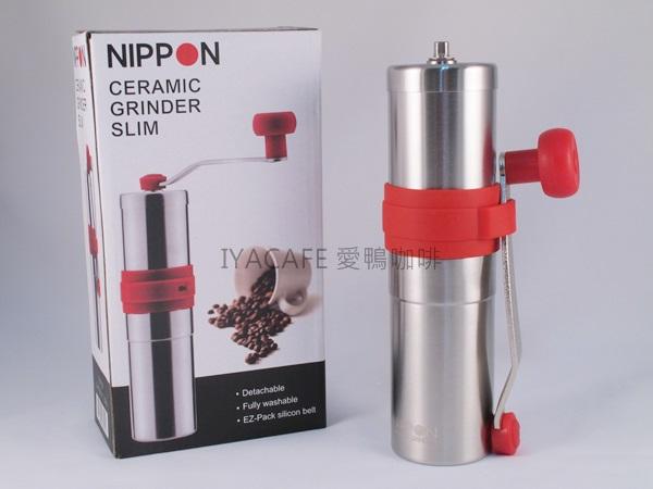 《愛鴨咖啡》Nippon 迷你 手搖磨豆機 陶瓷刀盤 贈清潔毛刷 YU0702