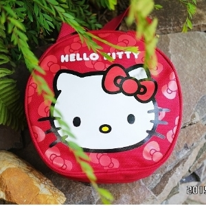 美麗大街【104100825】三麗鷗Hello Kitty紅色手提包 圓筒包