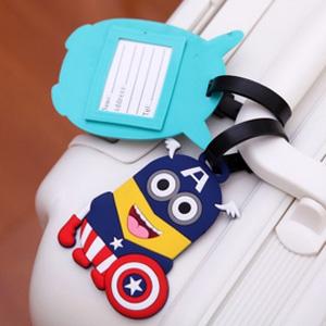 美麗大街【BF102E11】小小兵龍貓奶妹創意卡通旅行箱行李牌包包吊牌托運牌