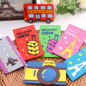 美麗大街【BF553E2】韓國卡通旅行箱行李牌包包吊牌托運牌