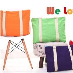美麗大街【BFE30E4E19】韓版多功能可折疊旅行袋 帆布購物袋