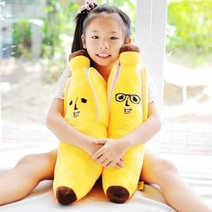 美麗大街【103080701】12吋芭那夫表情剝皮香蕉系列抱枕
