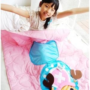 美麗大街【104030916】航海王 海賊王兩年後喬巴粉色藍色可收納兩用涼被抱枕