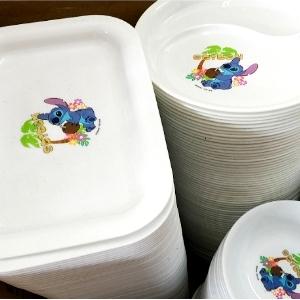 美麗大街【104052904】可愛史迪奇餐盤飯碗托盤