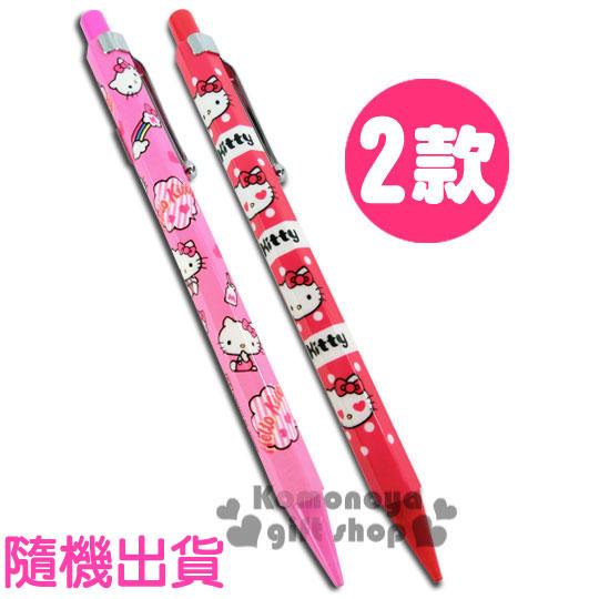 〔小禮堂〕Hello Kitty 自動鉛筆《2款.隨機出貨.紅/粉.》可愛實用好心情