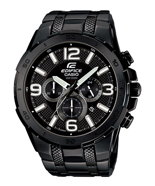 CASIO EDIFICE EFR-538BK-1A極惡荒地時尚流行腕錶/黑面49mm