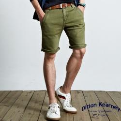 DITION 日職人復古刷色釘釦膝上牛仔短褲
