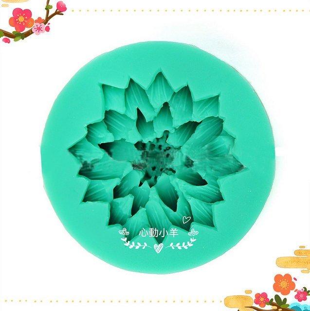 心動小羊^^DIY手工皂工具矽膠模具肥皂香皂模型矽膠皂模巧克力模單朵菊花