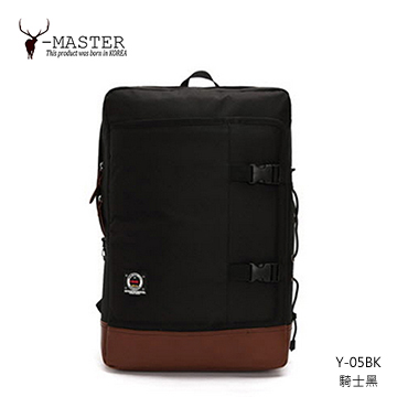 【愛瘋潮】正韓 韓國直送 Y-MASTER 街頭潮流-15.5吋筆電相機後背包 Y-05BK (騎士黑)