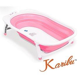 【淘氣寶寶】Karibu Tubby 摺疊式澡盆【櫻花粉】