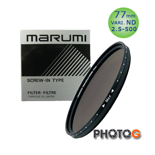 Marumi DHG 77mm 77 mm ND2.5-ND500 可調式ND減光鏡(77;彩宣公司貨)