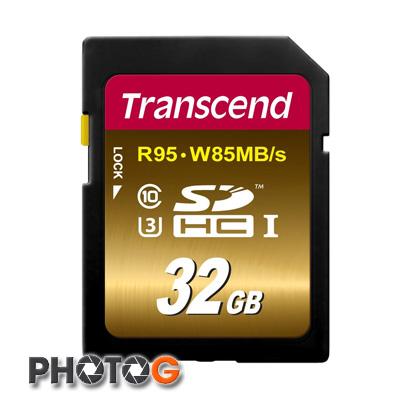 創見 SDXC 633X 32G / 32GB Class 10 UHS-I U3 記憶卡 讀 95MB/s 寫 85MB/s ( TS32GSDU3X ,終身保固)