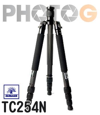 Tiltall TC-254N 碳纖維腳架 反折 四節 TC254N 攝影腳架 帝特 碳纖 ( 不含雲台 公司貨)