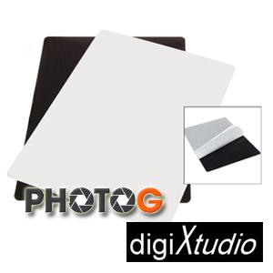 digiXtudio 30x40cm 攝影棚專用黑白大尺寸珠寶台(鏡射板) (網拍 模型 保養品 倒影)