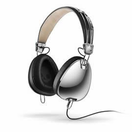 志達電子 S6AVDM-016 鉻黑 美國 Skullcandy Aviator 可換線式 飛行員耳罩式耳機 for iPhone ipod Apple