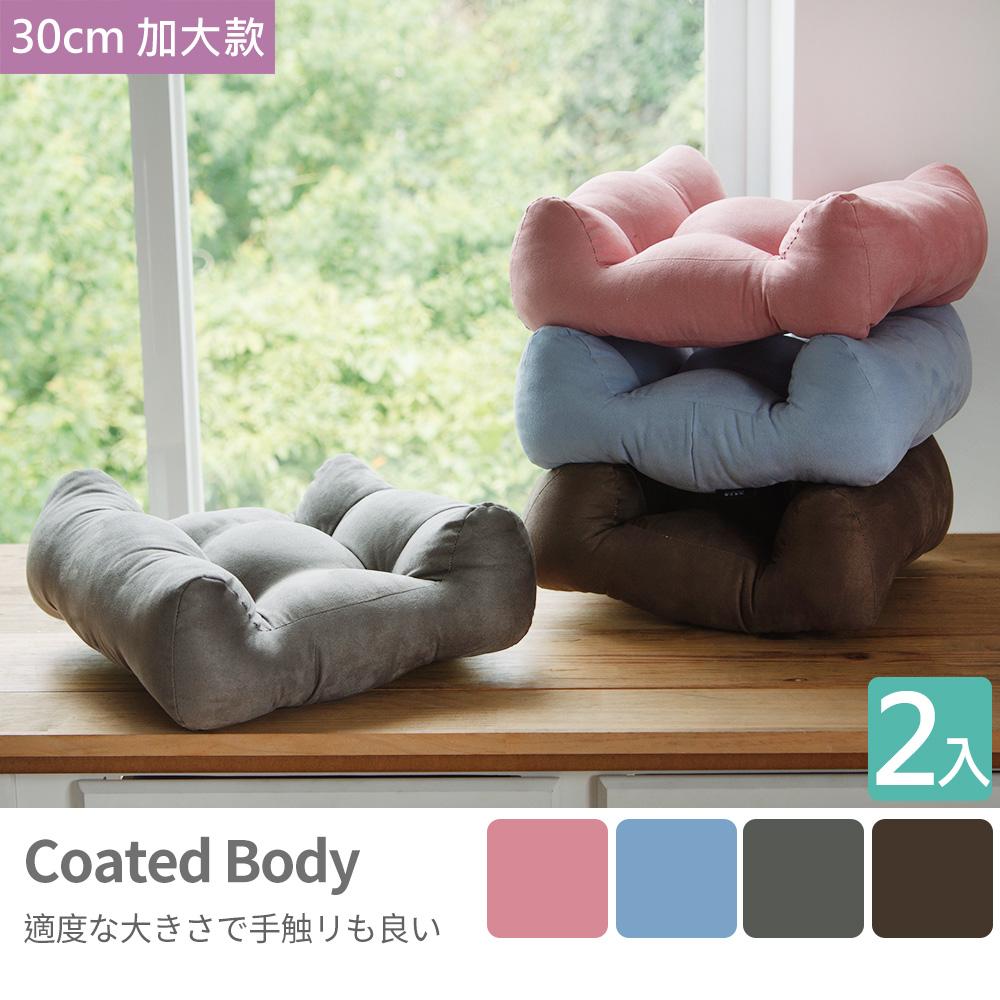 靠枕 腰枕【I0141-C】30X30厚實加大靠腰枕2入(四色) MIT台灣製 完美主義