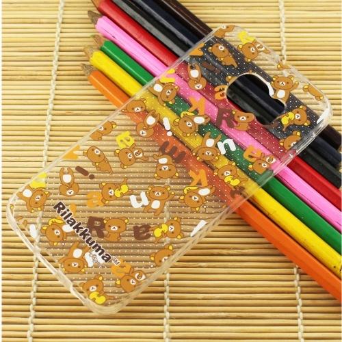 Rilakkuma 拉拉熊 Samsung Galaxy S6 edge 繽紛系列 彩繪透明保護軟套