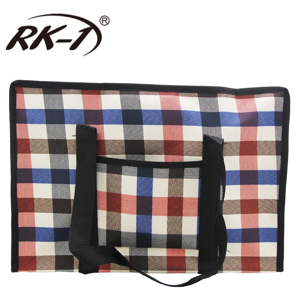 小玩子 RK-1 小防水拉鍊提袋 購物 格子 復古 旅遊 造型 露營 收納 方便 簡約 造型 RK-1029