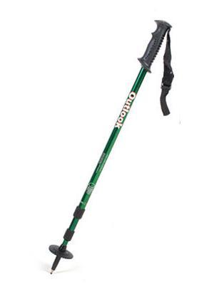 【鄉野情戶外專業】 OUTLOOK 航太合金鋁合金7075 三節式登山杖-綠 WS-1AB (超值加購商品)