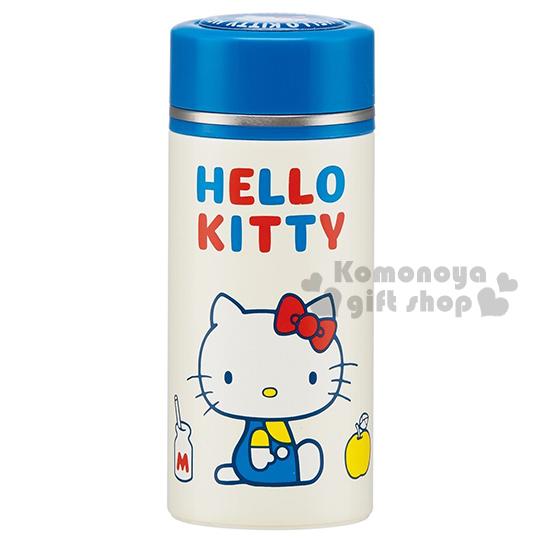 〔小禮堂〕Hello Kitty 不鏽鋼保溫瓶《白.側坐.鬱金香.200ml》70年代系列