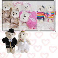 【aife life】手工編製婚禮熊/情侶熊娃娃鑰匙圈(一對),不論是結婚新人或者熱戀中的情侶,情人心目中的最佳禮物,心意百分百唷。