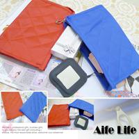 【aife life】多功能帆布整理袋印章存摺收納包化妝包旅遊包多用包手拿包夾鍊袋筆袋