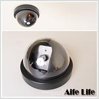 【aife life】偽真假監視器(大)/吸頂式半球型偽裝型監視器仿真攝影機鏡頭閃爍紅色LED燈