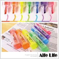 【aife life】七彩螢光筆一組7支/造型辦公螢光標記塗鴉筆重點筆
