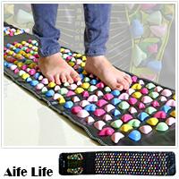 【aife life】(大)腳底按摩墊/健康步道/按摩腳墊/足底按摩墊/,塑膠石塊可移動,初心者可舖薄毯跟穿襪子行走