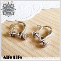 【aife life】DIY鎖頭旋轉夾式耳環/耳飾 首飾 手工耳環 DIY飾品 飾品零件 耳夾式耳環 贈品禮品