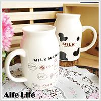 【aife life】日系陶瓷牛奶杯-大/牛奶馬克杯/牛奶罐造型馬克杯/咖啡杯/