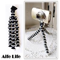 【aife life】多關節章魚腳架/相機三腳架/多段彎曲腳架/魔術腳架/輕量化腳架/自拍三腳架