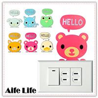 【aife life】夜光開關貼/動物壁貼/可重覆黏貼壁貼/電燈開關貼/居家裝飾