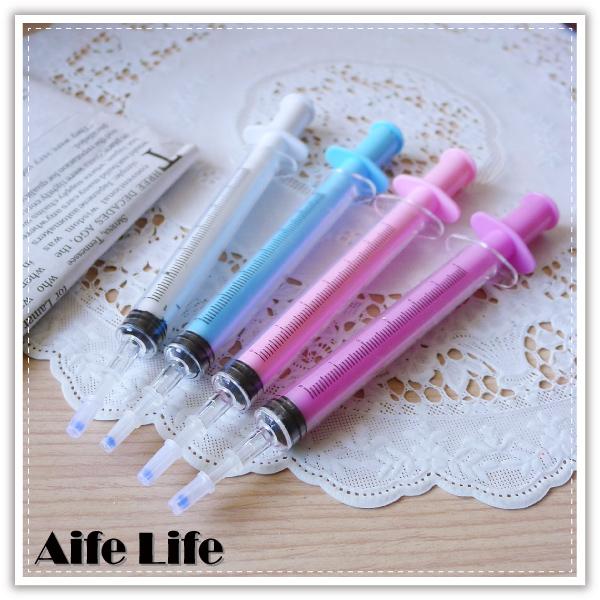 【aife life】細字針筒原子筆/圓珠筆/整人筆/針筒造型中性筆/廣告筆/贈品禮品