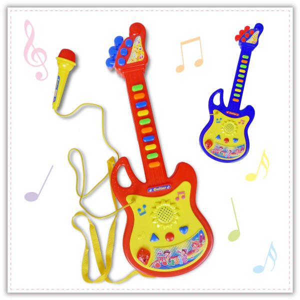 【aife life】吉他麥克風組/烏克麗麗/音樂玩具/兒童學習吉他/電吉他/ST玩具認證合格