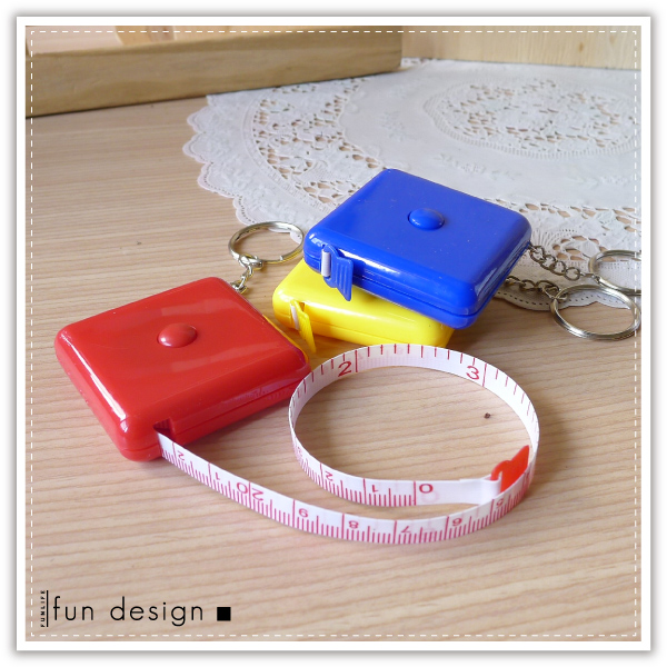 【aife life】方形糖果捲尺/自動伸縮捲尺/150公分/量尺/皮尺/捲尺鑰匙圈/可客製化印字