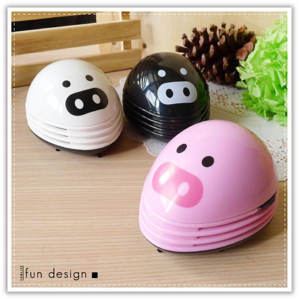 【aife life】小豬吸塵器-蛋型/可愛小豬造型桌上型吸塵器/筆電清潔/鍵盤灰塵/書桌的清潔小幫手!