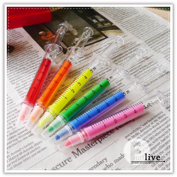 【aife life】 針筒螢光筆/針筒造型重點筆 針管螢光筆 造型辦公螢光標記塗鴉筆重點筆