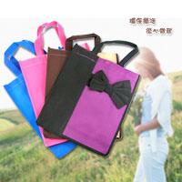 【aife life】日式蝴蝶結購物袋環保袋,不織布材質LOHAS樂活為地球盡一份心力