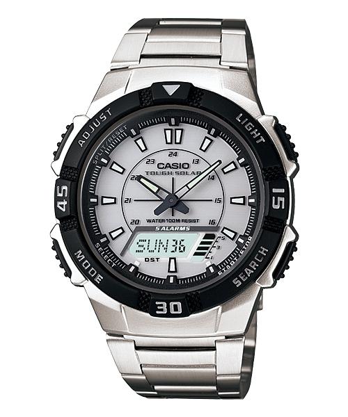 CASIO AQ-S800WD-7EVDF太陽能經典雙顯流行腕錶/42mm