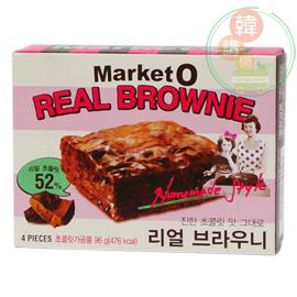 【韓購網】韓國Market O 布朗尼蛋糕96g(4入)★布朗尼巧克力磚,巧克力香醇濃郁順口好吃★韓國食品韓國必買
