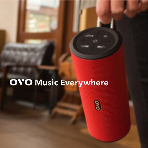 OVO Music Everywhere 音樂隨行杯 藍牙喇叭(紅色) 買就送雙層不銹鋼保溫飯盒