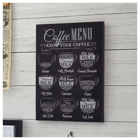 布質壁畫 黑板風 COFFEE