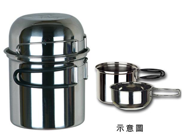 【鄉野情戶外用品店】 野樂 |台灣| 單人不鏽鋼套鍋/登山鍋具 露營鍋具/ARC-302