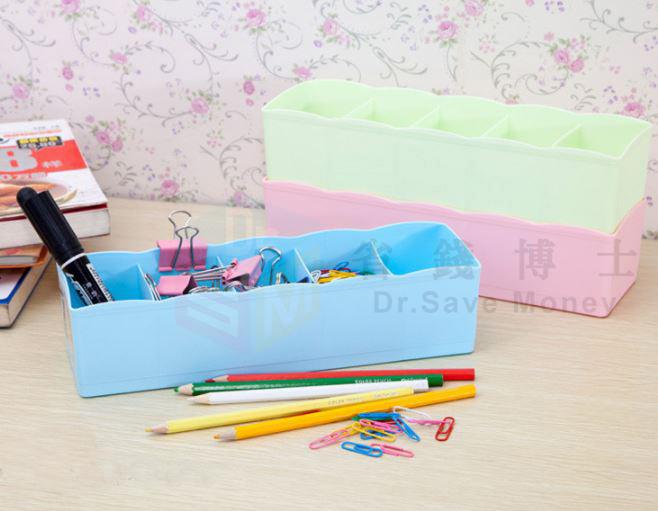 5格抽屜桌面整理盒可疊加收納盒塑料儲物盒  29元