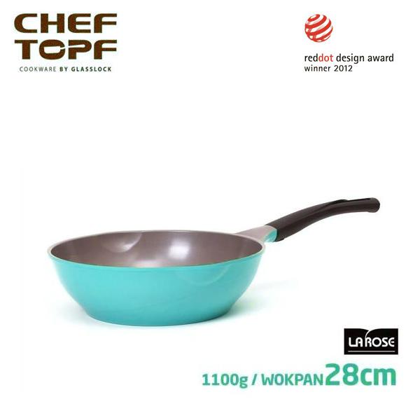 韓國 CHEF TOPF La Rose玫瑰鍋 炒鍋(無蓋)28cm 不沾鍋