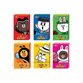 有樂町進口食品 韓國卡通人氣商品 HAITAI LINE銀河特攻隊口香糖15g K10 8801019412783