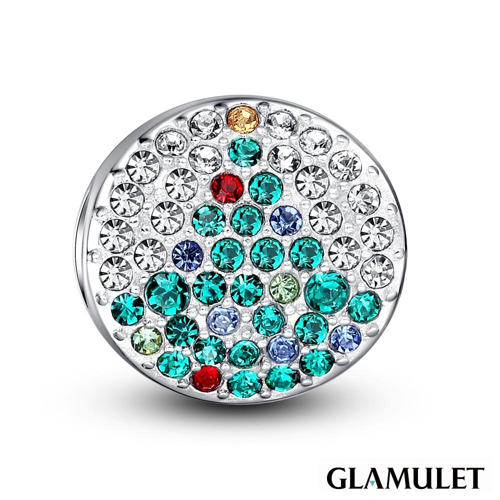 Glamulet格魅麗925純銀水晶手環手鏈串珠吊飾聖誕樹滿鑲鑽石charms歐潘朵拉通用