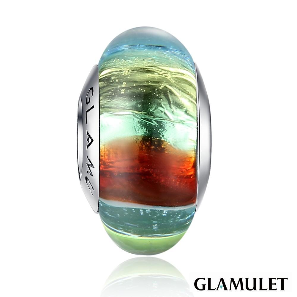 Glamulet格魅麗彩色條紋A款琉璃珠